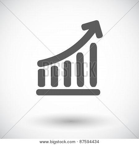 Graph single icon.