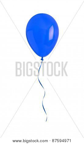 Blue Happy Air Flying Ball Isolated On White