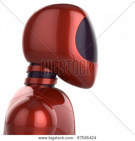 Cyborg Futuristic Robot Concept Red