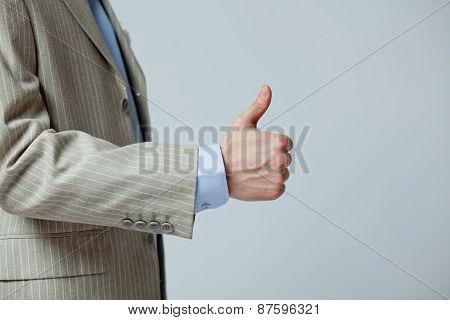 hand gesture showing