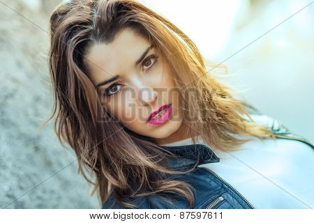 Portrait Of Teen Ager Intense Look
