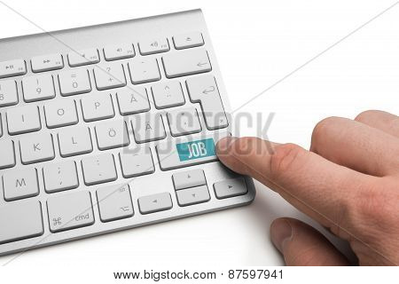 Job word on keyboard