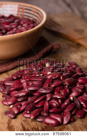 Kidney Beans In A Ceramic Bowl