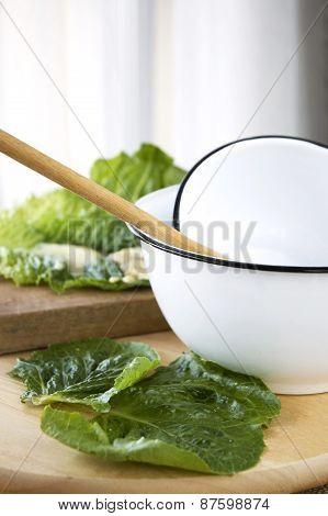 White Bowl In Kitchen