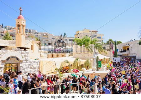 Orthodox Palm Sunday In Nazareth