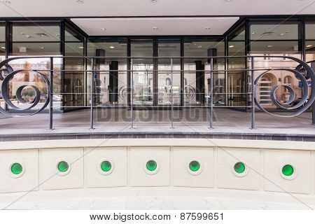 Entrance To Modern Building