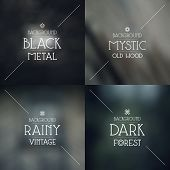 pic of mystical  - Set of blurred backgrounds - JPG