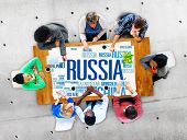 picture of globalization  - Russia Global World International Countries Globalization Concept - JPG