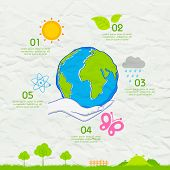 stock photo of save earth  - illustration of Earth Day background on crushed paper - JPG