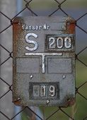 pic of valves  - Historical gate valve sign for water supply in Germany - JPG