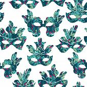 foto of carnival rio  - Seamless pattern with carnival mask - JPG