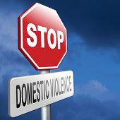 stock photo of wifes  - domestic violence abuse or aggression within marriage against partner wife or children - JPG