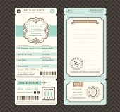 picture of boarding pass  - Vintage style Boarding Pass Ticket Wedding Invitation Template Vector - JPG