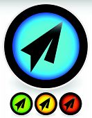 pic of aeroplane symbol  - Modern vivid icons with black paper plane symbols - JPG