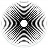 stock photo of uncolored  - Concentric Circle Elements  - JPG