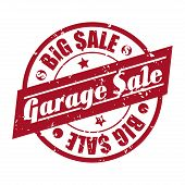 stock photo of garage  - garage sale  design over white background - JPG