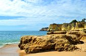 picture of peculiar  - Vale Do Olival Beach spectacular cliffs in Portugal - JPG