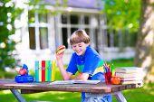 picture of school lunch  - Child in school yard - JPG