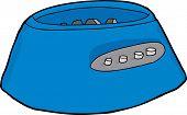 picture of blender  - Blue blender motor base over white background - JPG