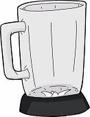 picture of blender  - Hand drawn cartoon blender with glass jar - JPG
