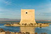 pic of costa blanca  - Old watchtower on the Mediterranean coast Costa Blanca Spain - JPG