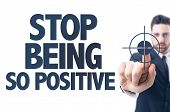 picture of positive negative  - Business man pointing the text - JPG