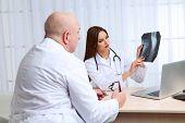 pic of radiogram  - Doctors receiving X - JPG