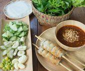 foto of sate  - Vietnamese Pork Sausage - JPG