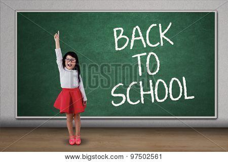 Sweet Girl Rise Hand In Class