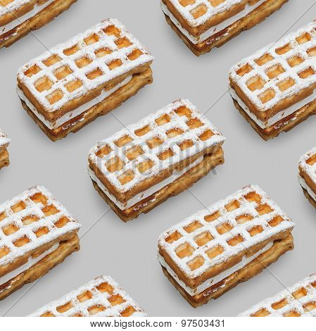 Viennese waffles .