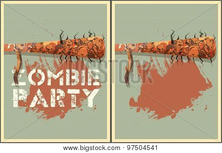 Zombie Party Illustration