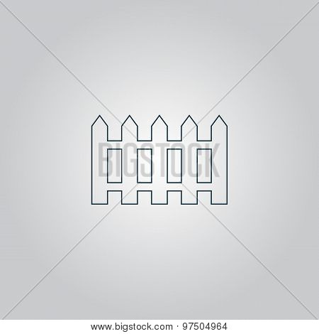 Fence icon - Vector