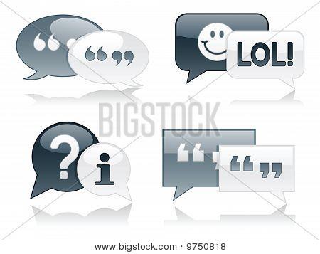 Monochromatic Glossy Chat Bubbles