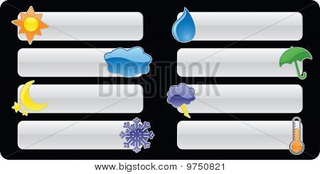 Glossy Weather Banners/Buttons