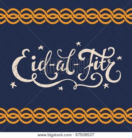Eid Al Fitr Lettering