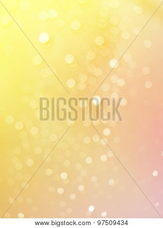 Abstract photo of light burst raindrops and glitter bokeh lights background.
