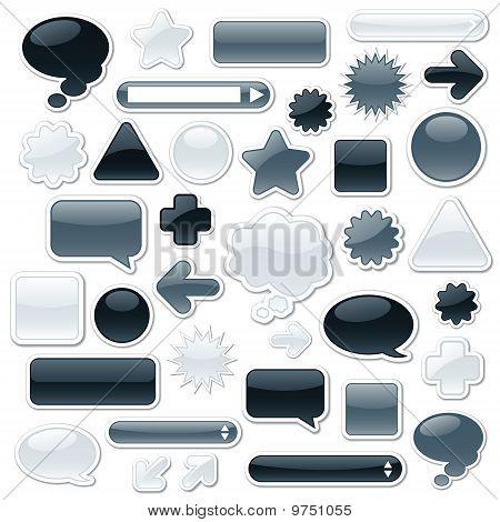 Monochroom Web-elementen