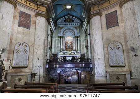 Interior Of Stella Maris Church. Haifa. Israel.