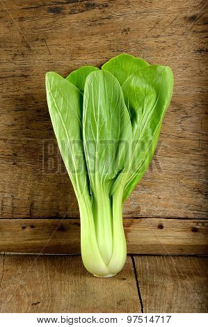 Bok Choy Vegetable On The Wooden Background