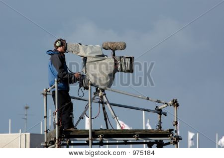A Camera-Man In Action