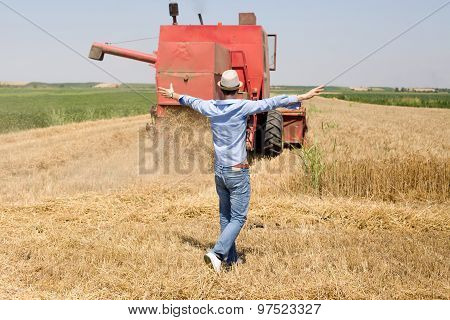 Satisfied Man In The Field