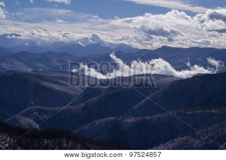 magnificent mountain scenery of the Northwest Caucasus