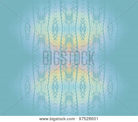 Seamless pattern turquoise yellow
