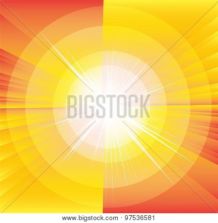 Star burst and sunbeam background