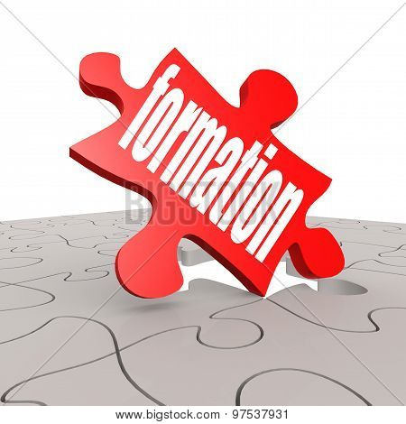 Formation Word With Puzzle Background