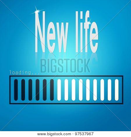 New Life Blue Loading Bar