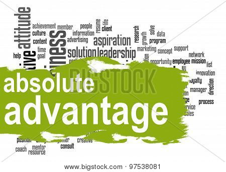 Absolute Advantage Word Cloud With Green Banner