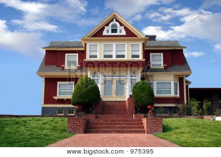 Hermosa casa roja