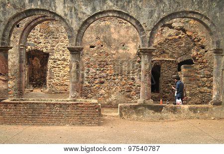 ruins of ancient palace in suburb Mumbai