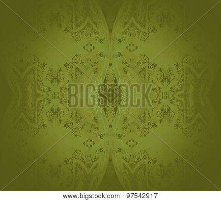 Seamless ornaments olive green